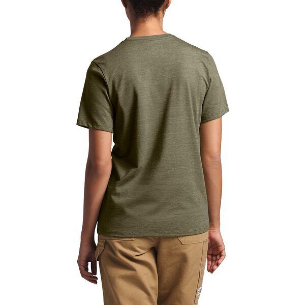 Women's Short-Sleeve Logo Marks Tri-Blend Tee, BURNT OLIVE GREEN HEATHER, hi-res