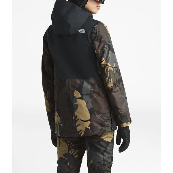 Women's Tanager Jacket, TNF BLACK/NEW TAUPE GREEN PALMS PRINT, hi-res