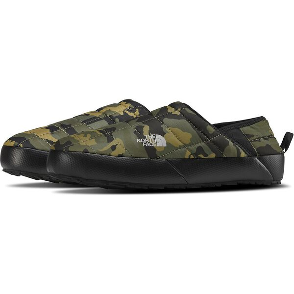 Men's Thermoball™ Traction Mule V, BURNT OLIVE GREEN WOODLAND CAMO PRINT/TNF BLACK, hi-res