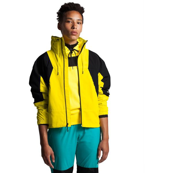 Women's Peril Wind Jacket, TNF LEMON/TNF BLACK, hi-res