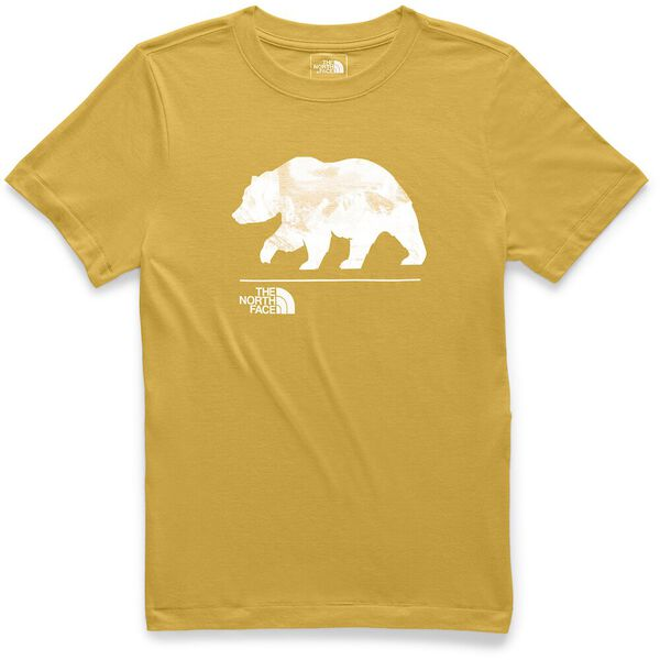 WOMEN'S SHORT-SLEEVE BEARINDA TRI-BLEND TEE, GOLDEN SPICE HEATHER, hi-res