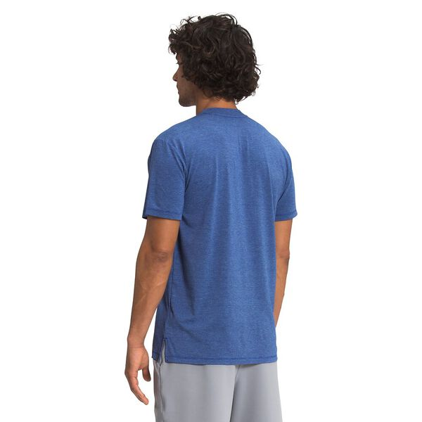 Men's Wander Short-Sleeve, BOLT BLUE HEATHER, hi-res
