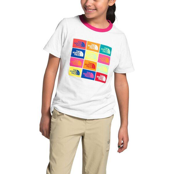 Girls' Short-Sleeve Graphic Tee, TNF WHITE, hi-res