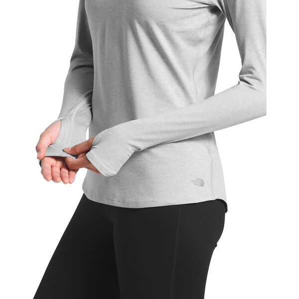 Women's Essential Long-Sleeve, TNF LIGHT GREY HEATHER, hi-res