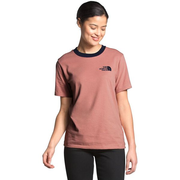 Women's Short-Sleeve Rogue Tee, PINK CLAY/AVIATOR NAVY, hi-res
