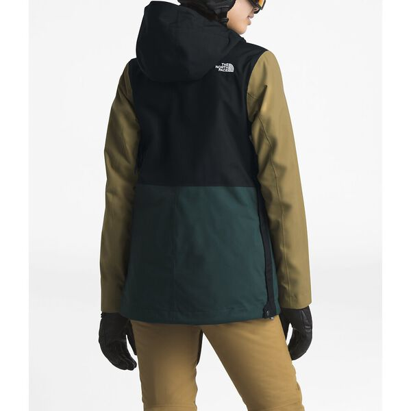 WOMEN'S TANAGER FANORAK JACKET, TNF BLACK/PONDEROSA GREEN/BRITISH KHAKI, hi-res
