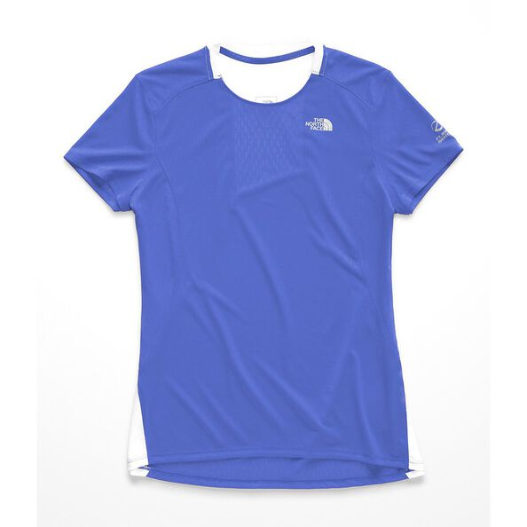 WOMEN'S FLIGHT BETTER THAN NAKED SHORT SLEEVE, DAZZLING BLUE-TNF WHITE, hi-res