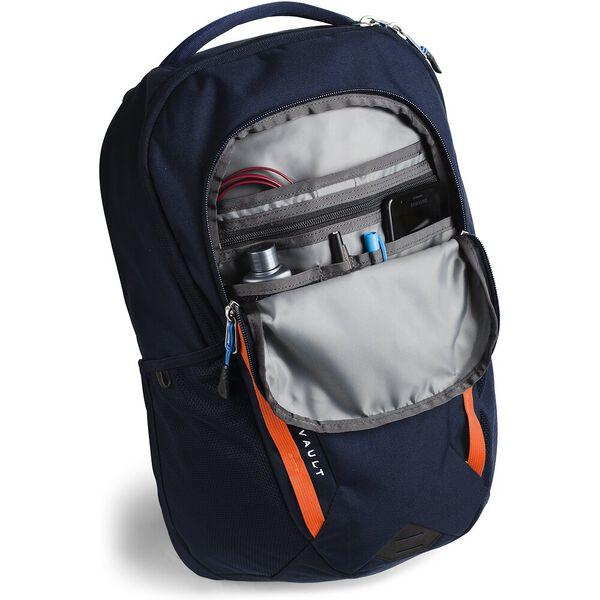The North Face Vault Rucksack Hiking Backpack Urban Navy Persian Orange