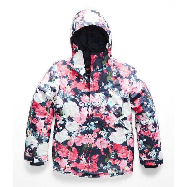 GIRLS' BRIANNA INSULATED JACKET, ATOMIC PINK DIGI FLORAL PRINT, hi-res
