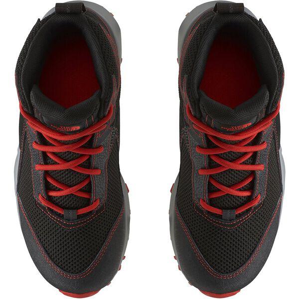 Junior Hedgehog Hiker II Mid WP, TNF BLACK/FIERY RED, hi-res