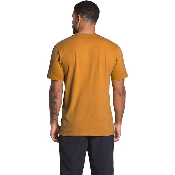 Men's Short-Sleeve Half Dome Tee, CITRINE YELLOW-TNF BLACK, hi-res