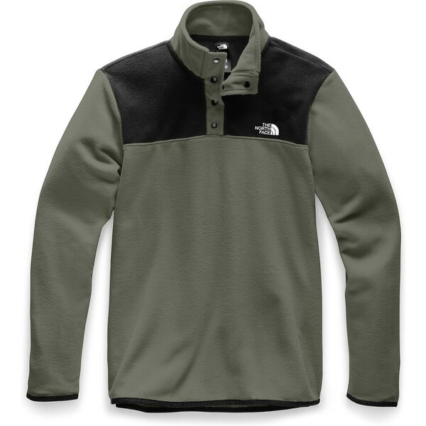 Men's TKA Glacier ¼ Zip, NEW TAUPE GREEN/TNF BLACK, hi-res