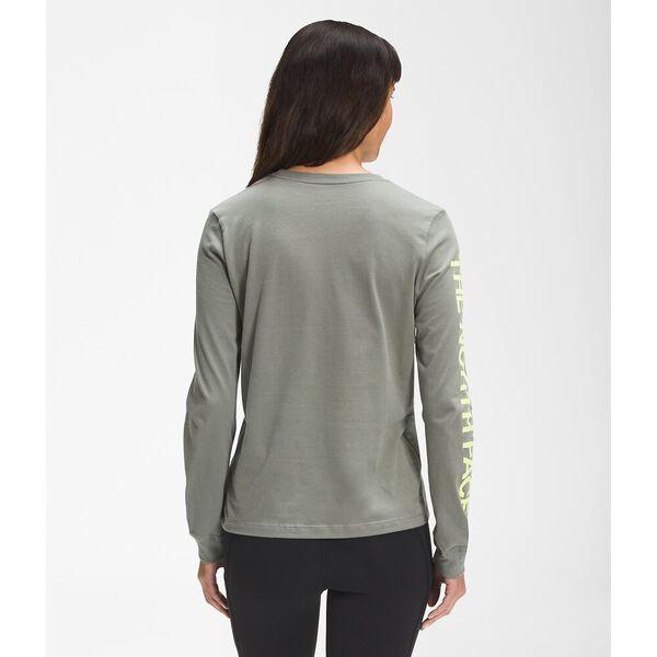 Women's Simple Logo Long-Sleeve Tee, AGAVE GREEN, hi-res