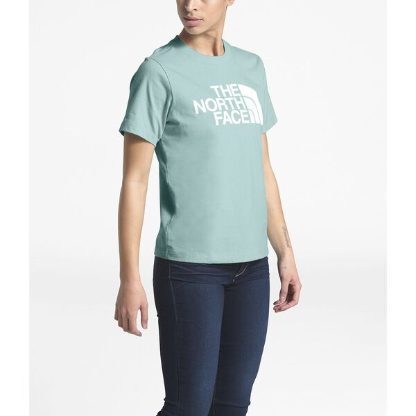 WOMEN'S SHORT-SLEEVE HALF DOME TEE, WINDMILL BLUE/TNF WHITE, hi-res