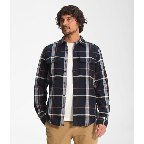 Men's Arroyo Flannel Shirt, AVIATOR NAVY LARGE HALF DOME PLAID, hi-res