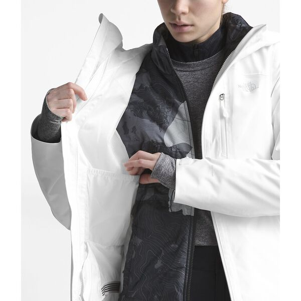 WOMEN'S CLEMENTINE TRICLIMATE JACKET, TNF WHITE, hi-res