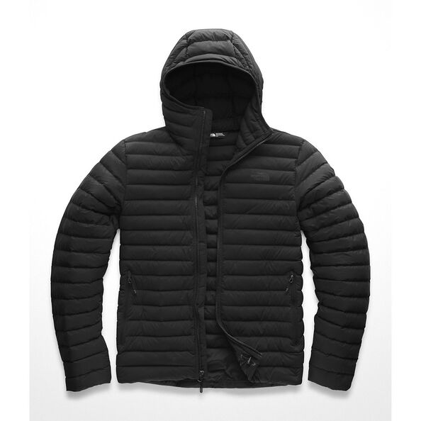 MEN'S STRETCH DOWN HOODIE, TNF BLACK/TNF BLACK, hi-res