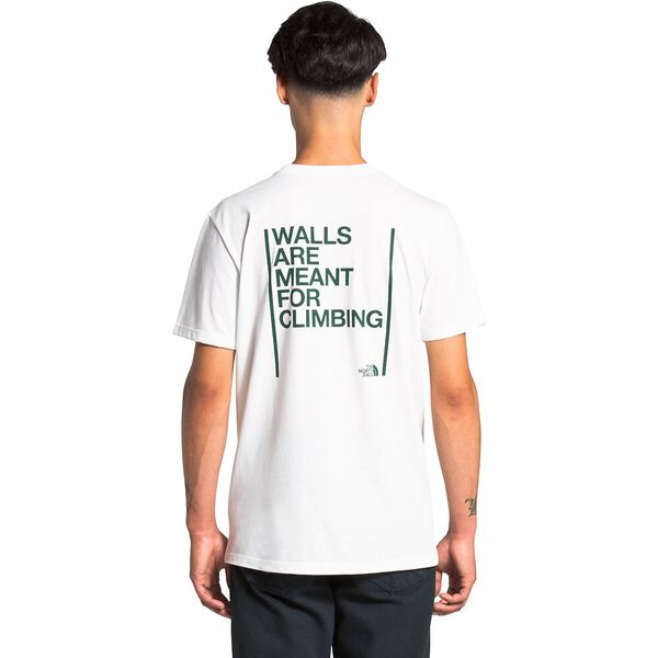Unisex Short-Sleeve Walls Are Meant For Climbing Tee, TNF WHITE, hi-res