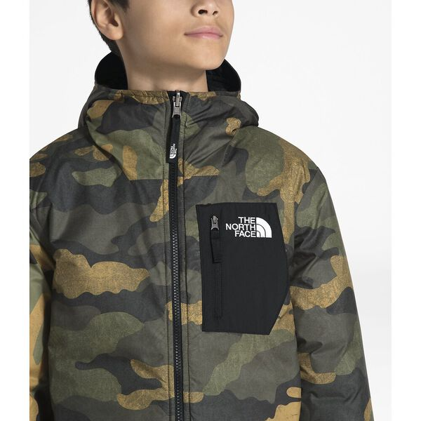 Boys' Reversible Perrito Jacket, NEW TAUPE GREEN/TNF BLACK, hi-res