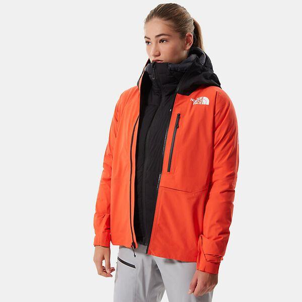 Women's Summit L5 LT FUTURELIGHT™ Jacket, FLARE/TNF BLACK, hi-res