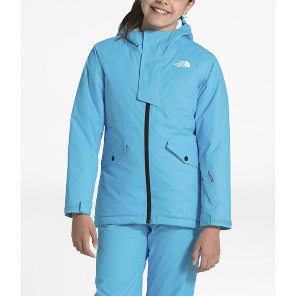GIRLS' FREEDOM INSULATED JACKET, TURQUOISE BLUE, hi-res
