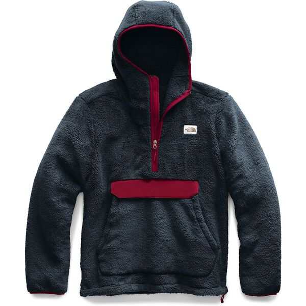 Men's Campshire Pullover Hoodie, URBAN NAVY/CARDINAL RED, hi-res