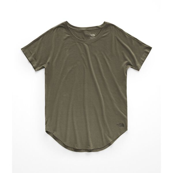 WOMEN'S WORKOUT SHORT SLEEVE, NEW TAUPE GREEN, hi-res
