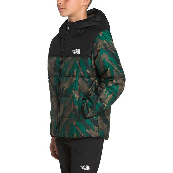 Boys' Reversible Perrito Jacket, EVERGREEN MOUNTAIN CAMO PRINT, hi-res