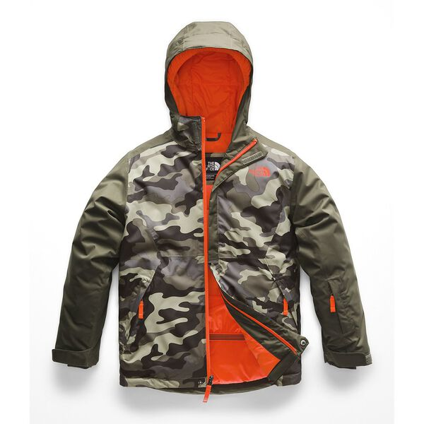 BOYS' BRAYDEN INSULATED JACKET, NEW TAUPE GREEN CAMOUFLAGE PRINT, hi-res