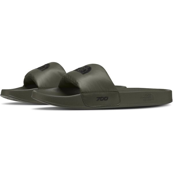 Men's Nuptse Slides, NEW TAUPE GREEN/TNF BLACK, hi-res