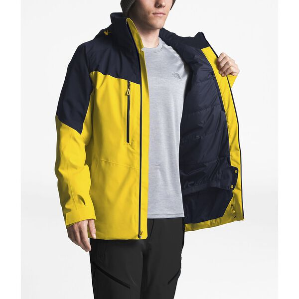 MEN'S CHAKAL JACKET, LEOPARD YELLOW/URBAN NAVY, hi-res