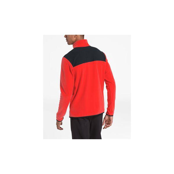 Men's TKA Glacier Snap-Neck Fleece, FIERY RED/TNF BLACK, hi-res
