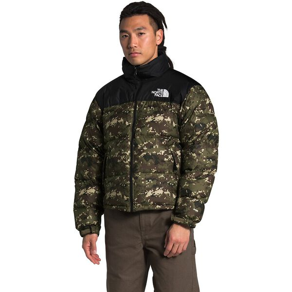 Men's 1996 Retro Nuptse Jacket, BURNT OLIVE GREEN UX DIGI CAMO PRINT, hi-res