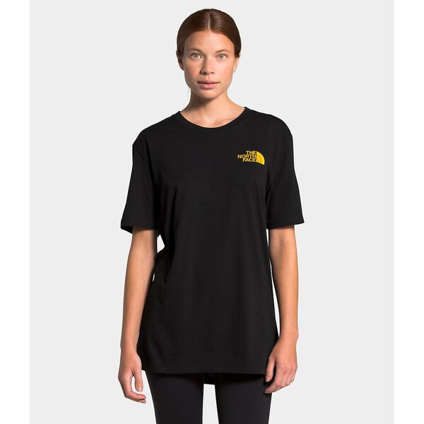 Unisex Short-Sleeve Walls Are Meant For Climbing Tee, TNF BLACK, hi-res