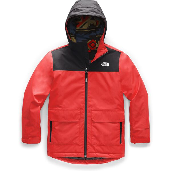 Boys' Freedom Insulated Jacket, FIERY RED, hi-res