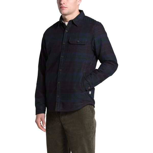 Men's Campshire Shirt, SCARAB GREEN HERITAGE MEDIUM THREE COLOR PLAID, hi-res