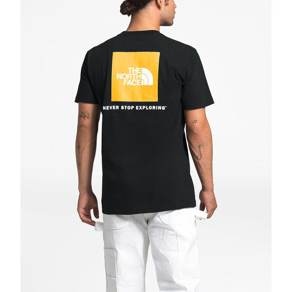 Men's Short-Sleeve UX Red Box Tee, TNF BLACK/TNF YELLOW, hi-res