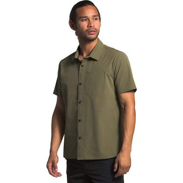 Men's North Dome Short-Sleeve Shirt, BURNT OLIVE GREEN, hi-res