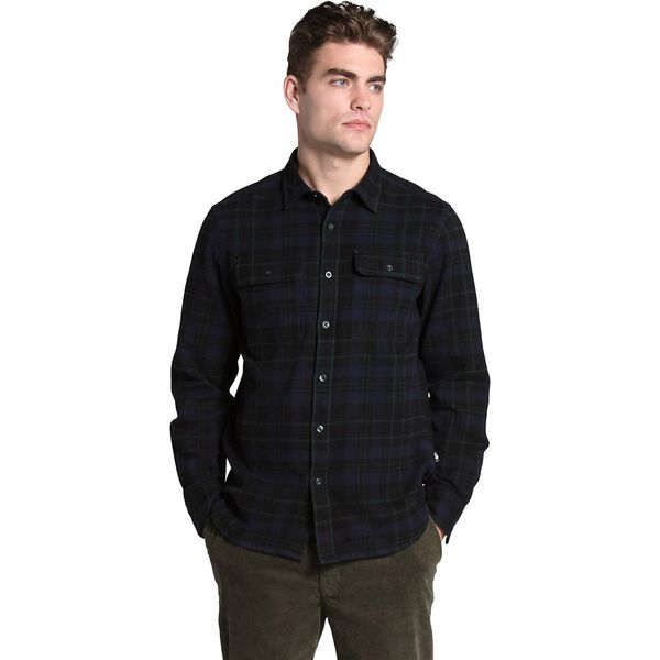 Men's Arroyo Flannel Shirt, SCARAB GREEN HERITAGE MEDIUM THREE COLOR PLAID, hi-res