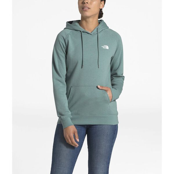 WOMEN'S RED BOX PULLOVER HOODIE, TRELLIS GREEN/TNF WHITE, hi-res
