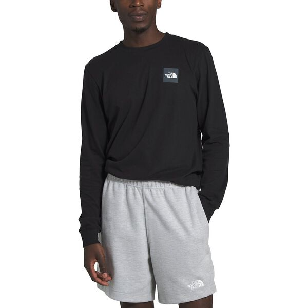 Men's Long-Sleeve Red Box Tee, TNF BLACK, hi-res