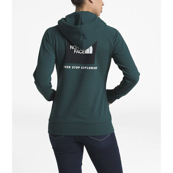 Women's Red Box Pullover Hoodie, PONDEROSA GREEN/TNF WHITE, hi-res