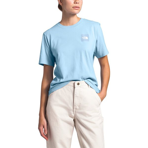 Women's Short-Sleeve Box Tee, ANGEL FALLS BLUE, hi-res