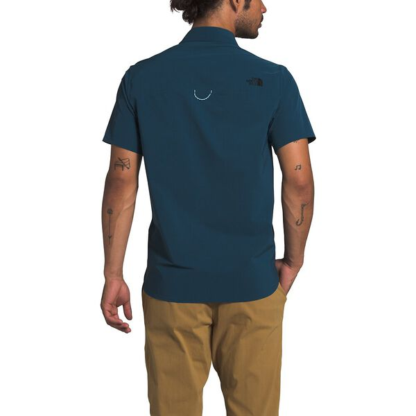 Men's North Dome Short-Sleeve Shirt, BLUE WING TEAL, hi-res