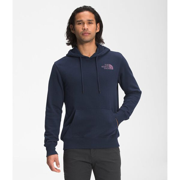 Unisex Walls Are Meant For Climbing Pullover Hoodie, AVIATOR NAVY-PIKES PURPLE, hi-res