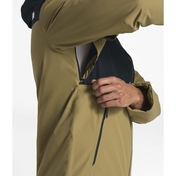 MEN'S INLUX INSULATED JACKET, BRITISH KHAKI/TNF BLACK, hi-res