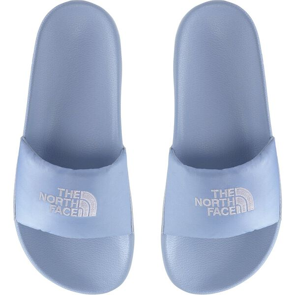 Women's Nuptse Slides, ANGEL FALLS BLUE/TNF WHITE, hi-res