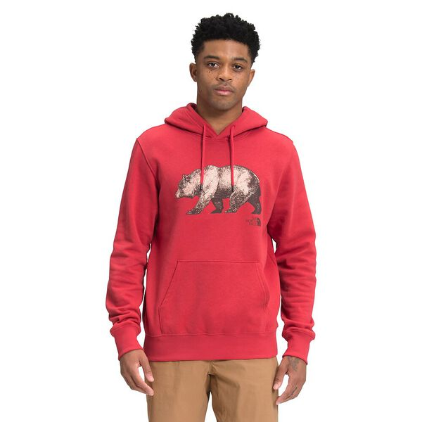 Men's TNF™ Bear Pullover Hoodie, ROCOCCO RED, hi-res