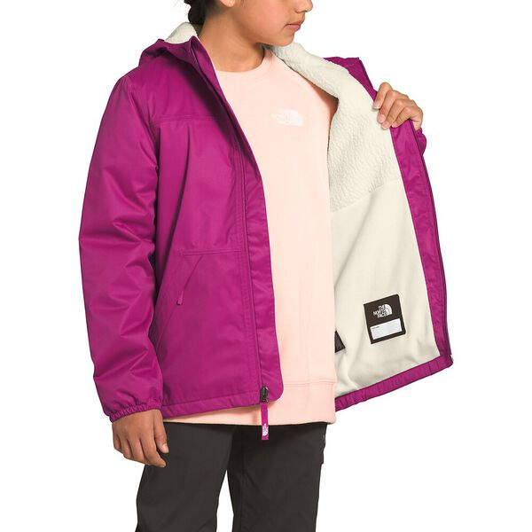 Girls' Warm Storm Rain Jacket, WILD ASTER PURPLE, hi-res