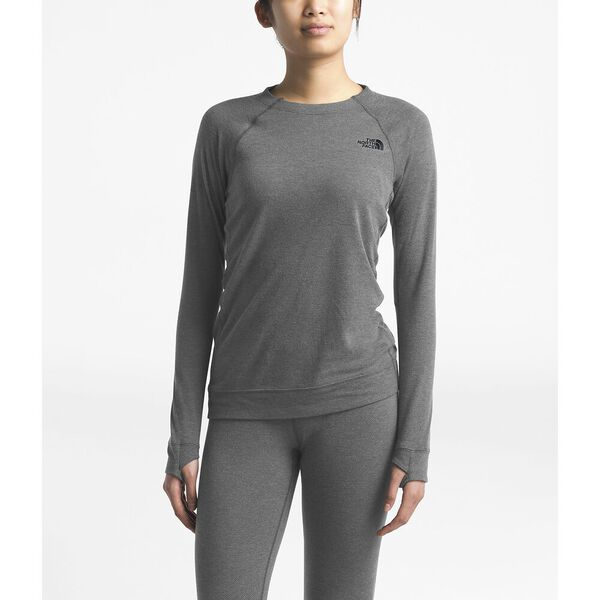 WOMEN'S WARM WOOL BLEND CREW, TNF MEDIUM GREY HEATHER, hi-res